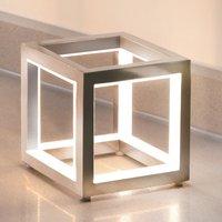 Delux cube shaped LED table lamp  alu  12 cm