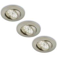 Rotatab  LED recessed light  set of 3  matt nickel