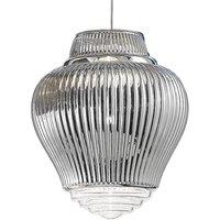Clyde pendant light 130 cm metallic silver