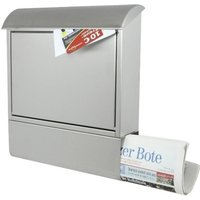 Letterbox stainless steel with newspaper slot