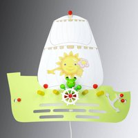 Frog wall light in the shape of a sailing ship