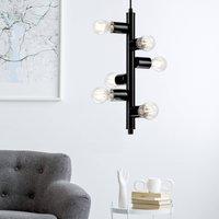 Form hanging light with 6 sockets  black