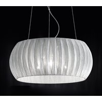 Amaru hanging light with fabric lampshade 45 cm
