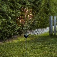 Firework LED solar light with ground spike  3 bulb