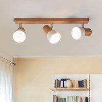 Svenda three bulb wooden ceiling lamp
