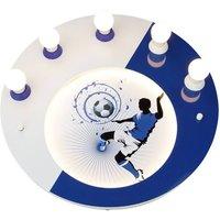 Soccer ceiling light  5 bulb  blue and white
