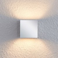 Nehle chrome wall lamp, angular, one-bulb