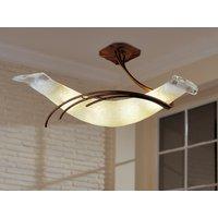 Roma designer ceiling light 30 antique brown