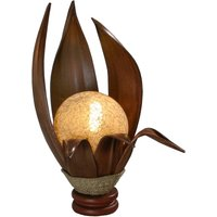 Karima table lamp made of hardened coconut leaves