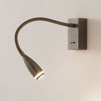 Click LED wall light with switch  bronze