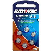 Rayovac 312 Acoustic 1 4 V  180mAh button cell