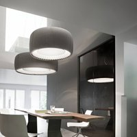 Luceplan Silenzio LED pendant light grey   120cm
