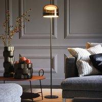 LED floor lamp Equatore in chrome  135 cm
