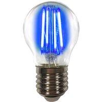 Coloured E27 4 W LED bulb filament  blue
