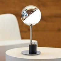 Designer table lamp with hemisphere