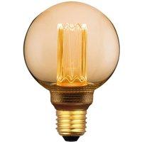 LED mini globe E27 5 W warm white 3 step dim gold