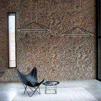 Grok Tubs LED hanging lamp in matt black 90x60 cm