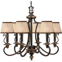 Six bulb chandelier Plymouth