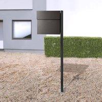 Letterman IV free standing letterbox black