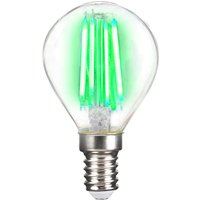 LED bulb E14 4 W filament  green