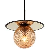 Cairo hanging light made of glass  amber