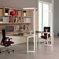 Office LED floor lamp up down 4 000 K dim silver
