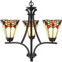 5967 chandelier  3 bulb in a Tiffany style