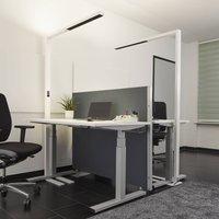 White LED floor lamp Jolinda with daylight sensor