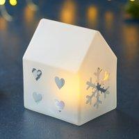 Santa House LED decorative light  10 cm high