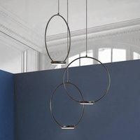 3 bulb LED hanging light Odigiotto in black
