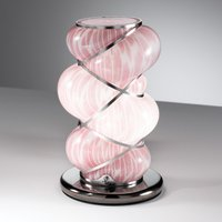 Orione table lamp with stainless steel  pink
