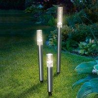 LED solar light rods Trio Sticks  set of 3