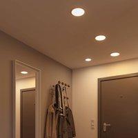 Paulmann Areo LED panel 3 000K round chrome 17 5cm