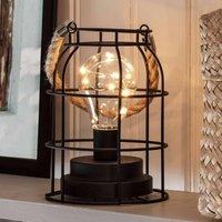 Round LED metal lantern