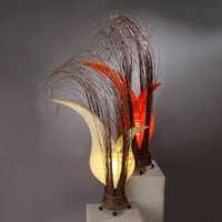 Bunga table lamp with a floral form  cream