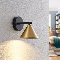 Lucande Kartio wall light  1 bulb  brass