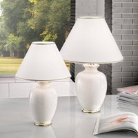 Giardino Avorio table lamp in white gold    30 cm