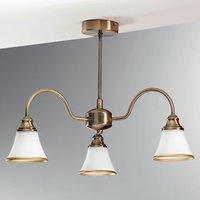 Tilda Ceiling Light Three Bulbs Old Brass Look