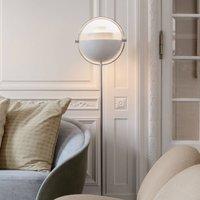 GUBI Multi Lite floor lamp chrome white