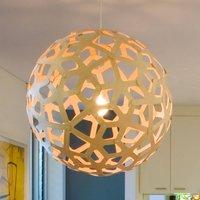 david trubridge Coral hanging lamp   80 cm natural