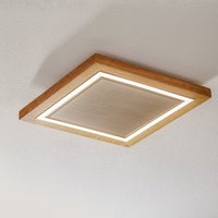 HerzBlut Otto O ceiling lamp square oiled oak