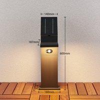 Solar-LED-Wegelampe Silvan mit Sensor, 60 cm