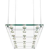 Elegant SOSPESA designer hanging light in glass