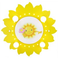 Sun with Flower ceiling lamp  four bulb  yellow