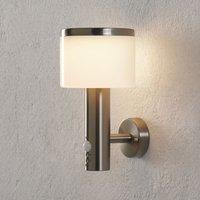 LED-Außenwandlampe Cathleen mit Bewegungsmelder