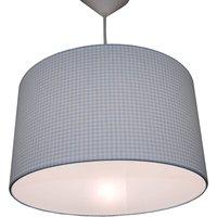 Vichykaro pendant lamp  blue white