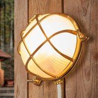 Bengt   outdoor wall light round brass