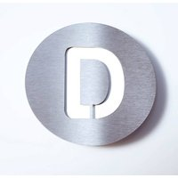 Round stainless steel house number   D