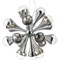 Playful hanging light FALLING DROPS  12 bulbs