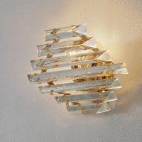 Golden crystal wall light Losanghe